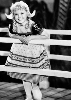 Shirley Temple in Heidi, 1937. I loved watching Shirley Temple movies that usually ran on Sunday afternoon.