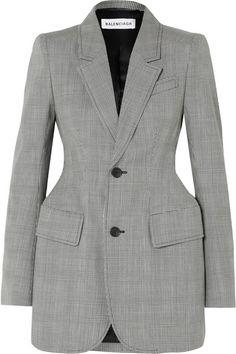 bdb7d498c7913 Balenciaga - Hourglass Prince of Wales checked wool-blend blazer