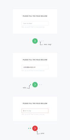 Multiple Steps Form Animation Using JQuery & Ui Ux Design, Web Design Tools, Web Design Tutorials, User Interface Design, Tool Design, Wireframe, Ui Design Principles, Ui Forms, Page Web