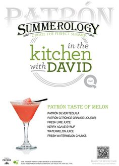 Patron Taste of Melon Drink #Recipe from @David Venable QVC