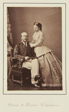 Prince and Princess Christian of Schleswig-Holstein, 1866 [in Portraits of Royal…