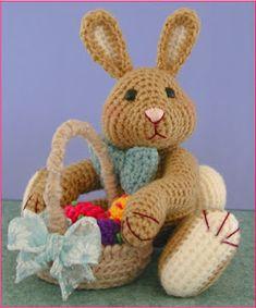 Crochet Rabbit FREE Amigurumi Easter Bunny Crochet Pattern and Tutorial by Sue Pendleton - Easter Bunny Crochet Pattern, Crochet Rabbit, Crochet Amigurumi Free Patterns, Crochet Dolls, Crochet Crafts, Free Crochet, Crochet Projects, Ravelry Crochet, Amigurumi Tutorial