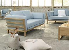 Boat 3-Sitzer-Sofa mit Stoffbezug
