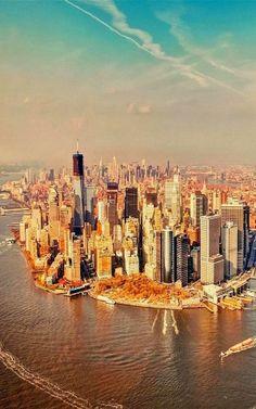 Bird's+View+-+Manhattan,+New+York+City