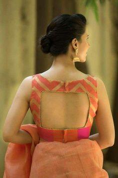 15 Stylish Saree Blouse Back Neck Designs - Kurti Blouse