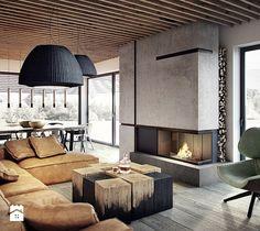 Salon, styl nowoczesny - zdjęcie od razoo-architekci