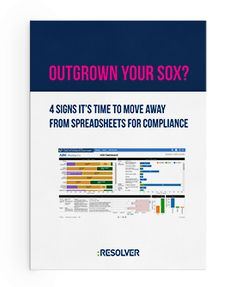 This free resource outlines 4 reasons why it's time to move away from spreadsheets when it comes to SOX compliance. Internal Control, Moving Away, Things To Come, Socks, Going Away, Ankle Socks, Sock, Stockings, Hosiery