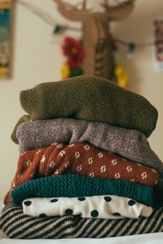 Sweaters, sweaters and more sweaters. Oh so cozy!