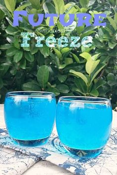 This refreshing, smooth Future Freeze Cocktail would be perfect as a sunset drink, or when lounging around the pool !