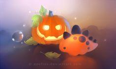 pumpkin dino by Apofiss on deviantART via PinCG.com