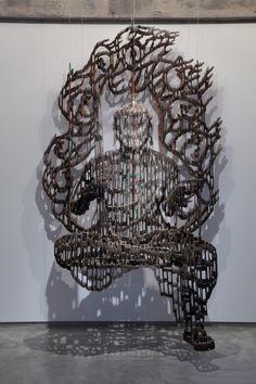 Sculptor, Yuji Honbori, creates Buddha images from discarded cardboard boxes!