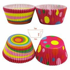 Wholesale Colorful Circle Dot Chocolate Mold Cake Oiled Paper