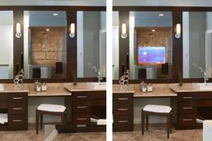 Love the TV that appears in your mirror while you get ready for work....how's the commute, hows the weather, is it time to sell those volitle stocks and pick up a rental home? Watch the news while you brush those teeth!