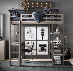Small baby room: ideas to make this little corner special - Home Fashion Trend Bedroom Loft, Teen Bedroom, Home Decor Bedroom, Bedroom Ideas, Boys Loft Beds, Loft Bed Plans, Maximize Small Space, Small Rooms, Small Spaces