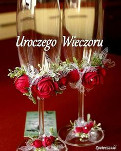 Diy wedding decorations that will make a spring wedding memorable 00002 Decorated Wine Glasses, Painted Wine Glasses, Wine Glass Crafts, Wine Bottle Crafts, Wedding Crafts, Wedding Decorations, Diy Wedding, Wedding Wine Glasses, Altered Bottles