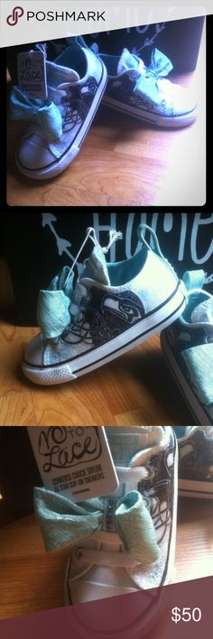 Baby girl baby blue Seahawks custom converse Toddle girls size 5 big bow and rhinestones 12th fan with lots of glitter the slip on no tie style super adorable one of kind only one park available Converse Shoes Sneakers