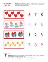 Kindergarten worksheets - Valentine's Day math worksheets 1 Valentine Stuff, Valentine Theme, Kindergarten Worksheets, Preschool Activities, Learning Centers, Kids Learning, February Holidays, Happy Hearts Day, Valentines Day Activities