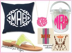 monogram - LOVE the Jack Rogers