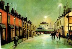 Approach to Springfield Park by D. Wigan Athletic, Football Art, Football Pictures, My Town, Cityscapes, Old Pictures, Past, Student, Paintings