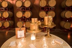 Our Arley Gold linen is really glowing at the Palm Event Center here, thanks Maurice Ramirez Photography for this shot!