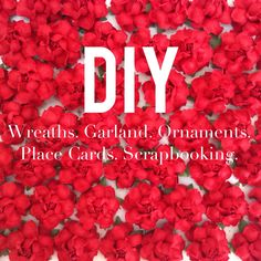 Let the holiday DIY projects begin!  Whether you're looking to make a wreath, special place cards for the holiday table, or decorating some festive scrapbook pages, our DIY Flowers in Holiday Red are just the finishing touch!