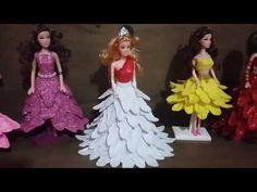 Croche Barbie - Vestido de Epoca Com Sombrinha Aberta e Chapéu Criado Por Pecunia MillioM - YouTube