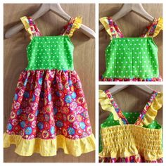 Seersucker Hippie, Retro Style Sundress, child size 5 by SewMeems on Etsy