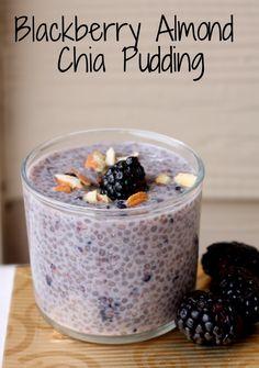 Blackberry Almond Chia Pudding | @foodpleasurehealth