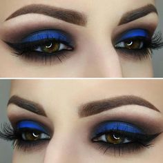 Gorgeous Makeup: Tips and Tricks With Eye Makeup and Eyeshadow – Makeup Design Ideas Blue Eyeshadow Makeup, Eye Makeup Tips, Smokey Eye Makeup, Skin Makeup, Makeup Inspo, Blue Eyeshadow Looks, Makeup Ideas, Creamy Eyeshadow, Blue Makeup Looks