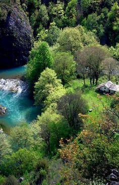 Voidomatis river in Epirus, Greece