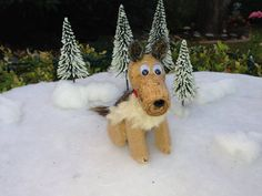 German Shepard Dog Wine Cork Ornament, Dog Lover, Terrier, Rescue, Mutt, Wine Decor, Wine Gift on Etsy, $12.00