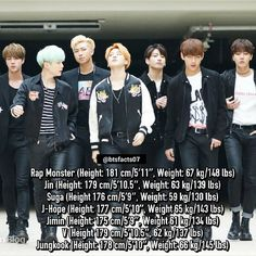 (Note that this info has probably changed since it was released, or is not right at all) alleged true height and weight of BTS members have been revealed by their own ARMY. © koreaboo