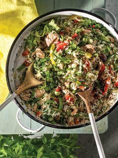 Vegan Vegetarian, Vegetarian Recipes, Cooking Recipes, Tasty, Yummy Food, Salad Bar, Greek Recipes, Paella, Healthy Choices