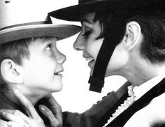 Audrey Hepburn with her son Sean Ferrer, 1960