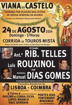 Pátio de Quadrilhas: Cartaz da Corrida em Viana do Castelo - 24 de Agos...
