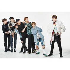 BTS Does A Fun Throwback With Old Stage Outfits In New Photos For... ❤ liked on Polyvore featuring bts
