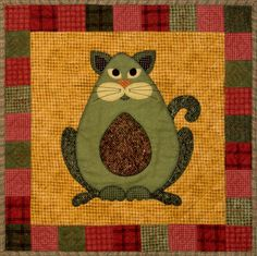 Avocato - the first and 'matriarch' of the series; this one is made from Maywood Woolies flannel