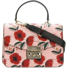 Furla flower print shoulder bag ($395) ❤ liked on Polyvore featuring bags, handbags and shoulder bags