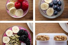 Banana Berry Smoothies 4 Ways