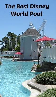 The Best Disney World Pool is Stormalong Bay, the pool shared by the Yacht & Beach Club Resorts.  With a sand bottom, a beach area, a lazy river, and the best water slide, it is a pool lover's dream.