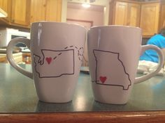 Easy Mug DIY - going away gift for a friend - Sharpie & bake at 350 for 30 min