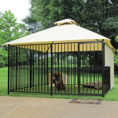 """so, they show this as a """"dog cage""""...i see it as a childs playpen for the outdoors. put toys and such in there, now i know they wont touch a hot bbq, or put dirt in thier mouths, keeps them caged in a big area plus allows shading for those hot sunny days...im lovin it!"""