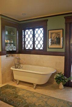 Vintage Bath 2 - craftsman - Bathroom - New York - Carisa Mahnken Design Guild Craftsman Style Bathrooms, Craftsman Style Decor, Craftsman Furniture, Craftsman Bungalows, Design Seeds, Style At Home, Bathroom Faucets, Master Bathroom, 1920s Bathroom