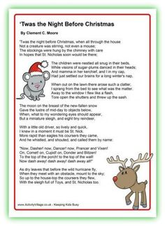 """CHRISTMAS FACT #11!! Clement Clark Moore, a 19th Century college professor, wrote """"Twas the Night Before Christmas in 1922 for his family, his inspiration for Santa a chubby Dutch sleigh driver who took them on a sleigh ride. A friend had it anonymously published, but he denied writing it for nearly 15 years because he thought it was beneath his talents. Of course it became a huge hit! So don't underestimate your talents!  Put on your cap or kerchief and dream. Don't settle for only…"""