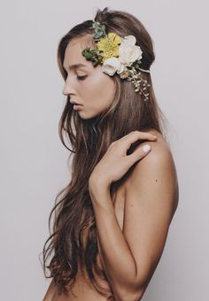 "Gorgeous article on ""10 Ways With Flower Crowns""."