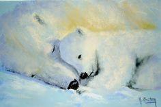 Crayons Pastel, Polar Bear, Blog, Facebook, Pastels, Panda, Artworks, Painting, Fictional Characters