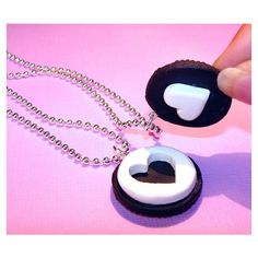 Best Friend Necklaces Oreo Necklaces ❤ liked on Polyvore featuring jewelry, necklaces and accessories