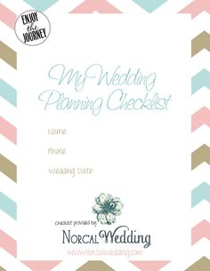 Step-by-step wedding planning guide for the year leading up to your wedding. Free downloadable wedding planning checklist.