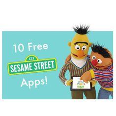 **TEN Free Sesame Street Apps** http://www.smartappsforkids.com/2014/01/good-free-apps-of-the-day-ten-free-sesame-street-apps.html