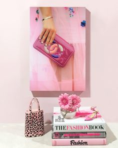 A pretty pink fashion art print to decorate your home or office space! #wallart